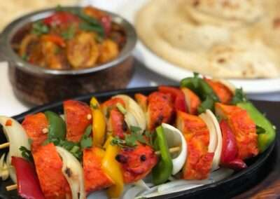 A selection of curry and tandoori dishes